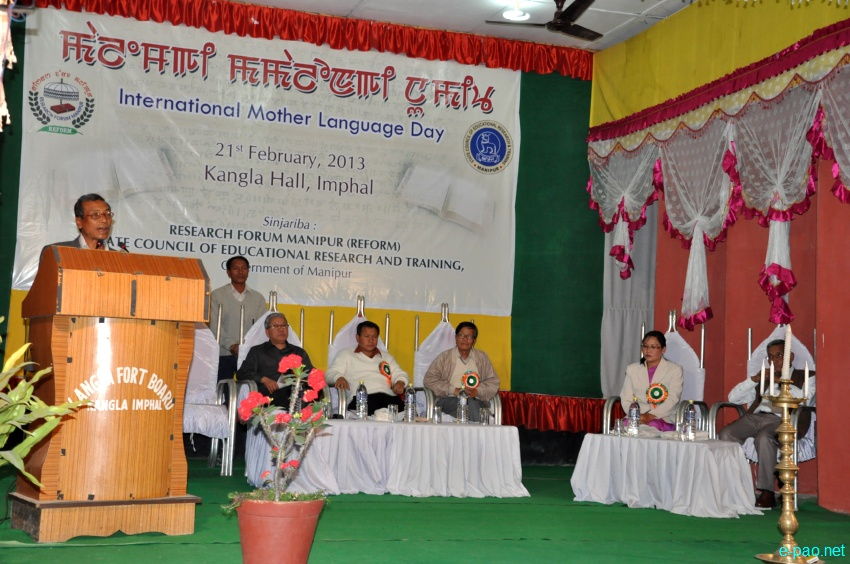 International Mother language Day, 21st February, 2013 at Kangla, Imphal