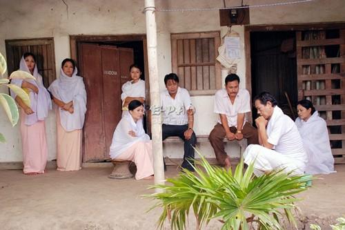 A scene from Manipuri Film  'Dharmagi Mingda Imagidamak'