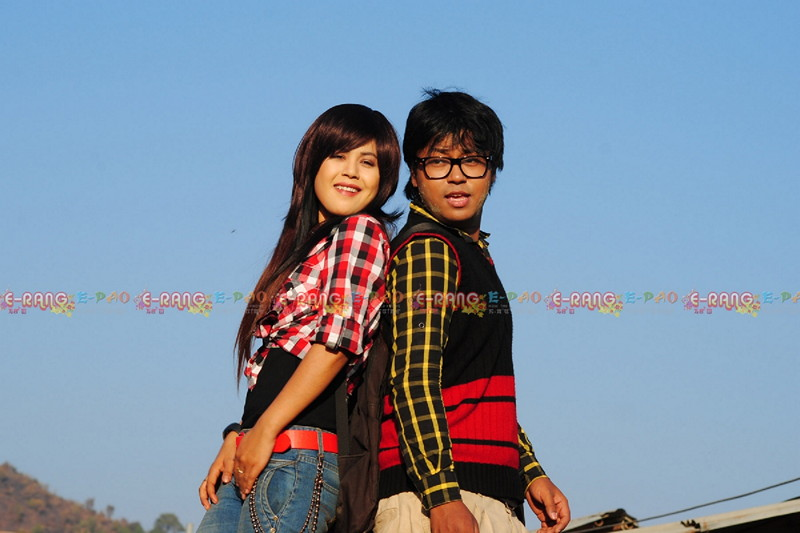A scene from a Manipuri movie ''Chayetpaa Tomnao' Gee Nungshi Lamjel'