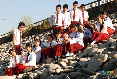 A scene from Manipuri Digital film 'School Karusi'