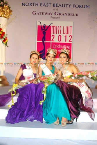 Rusie Thokchom at Miss LUIT 2012