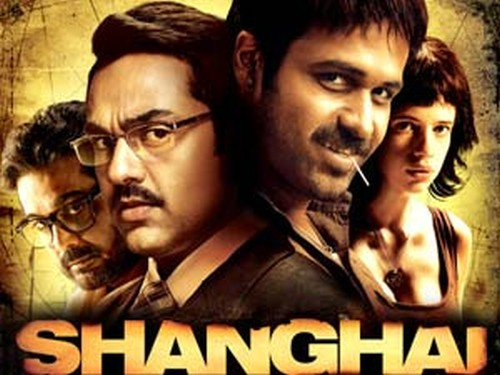 A poster for Bollywood movie Shanghai