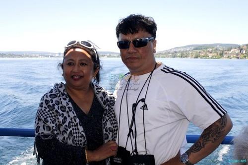 Bidyarani Laishram (o) with Momocha