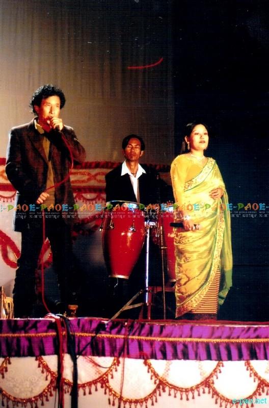 Khangembam Sangita singing with Tapta