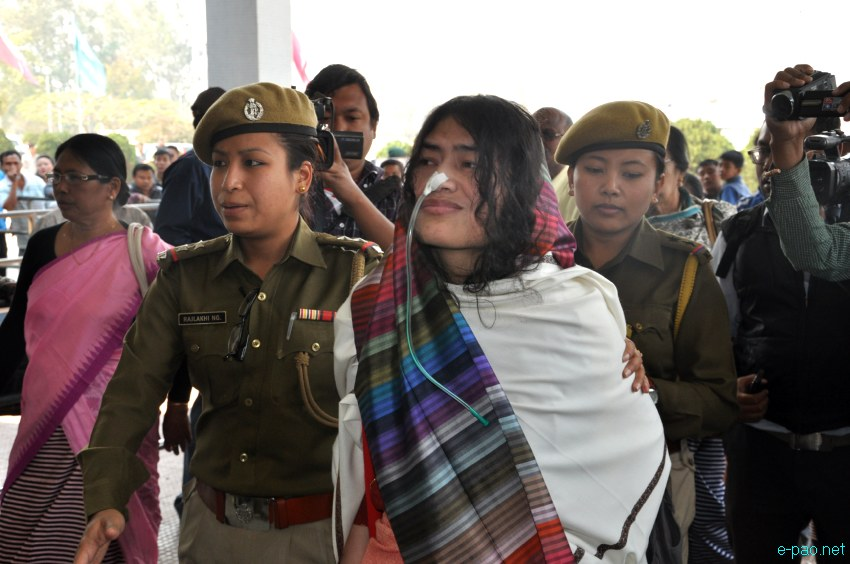 Irom Sharmila  at Imphal Airport on March 03 2013