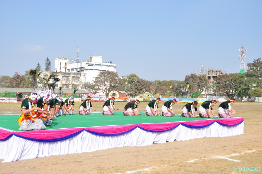 Folk Dance Festival at 'Beating of the Retreat ceremony' of 69th Republic Day :: 27th January 2018
