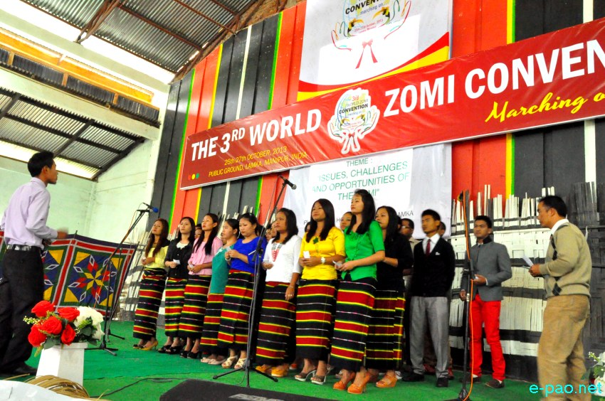 Last Day of 3rd World Zomi Convention at YPA Head Quarter Hall Hiangtam, Lamka :: 27 October 2013