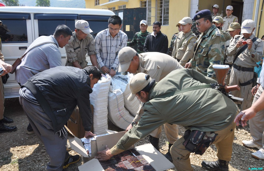 Biggest drug haul at Pallel, Manipur on 24 February 2013