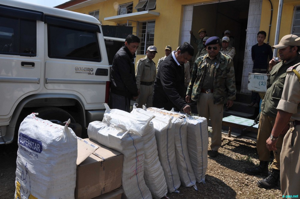 Biggest drug haul at Pallel, Manipur (Indian  Army colonel among six held) :: 24 February 2013