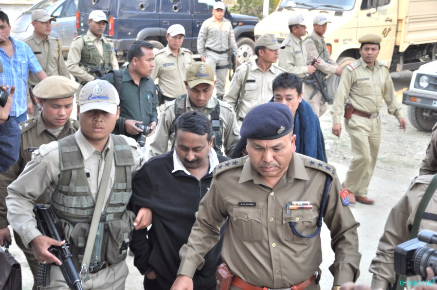 PRO, PIB Defense Wing, Lt Col Ajay Choudury and others produced before court at Imphal :: 8th March 2013