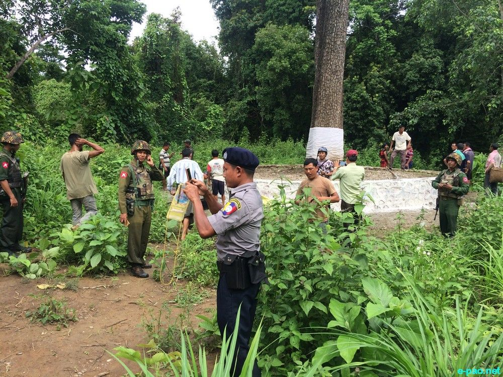 Scenes of disputed Indo-Myanmar Border Pillar Number 81 at Kwatha Khunou, Tengnoupal district, Manipur :: 1st Week July 2018