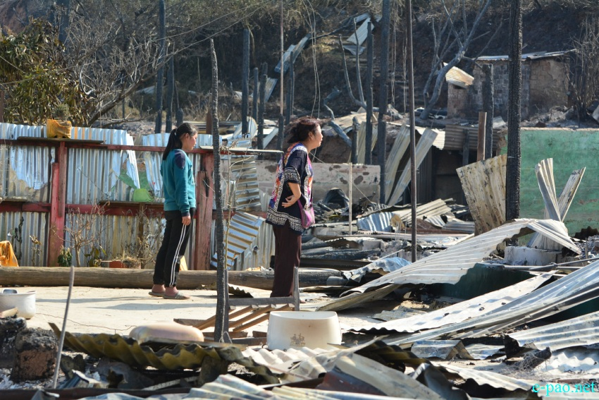 Relief Camp after Kamjong Villagers torched  houses belonging to Chassad in Kamjong district :: March 17th 2020