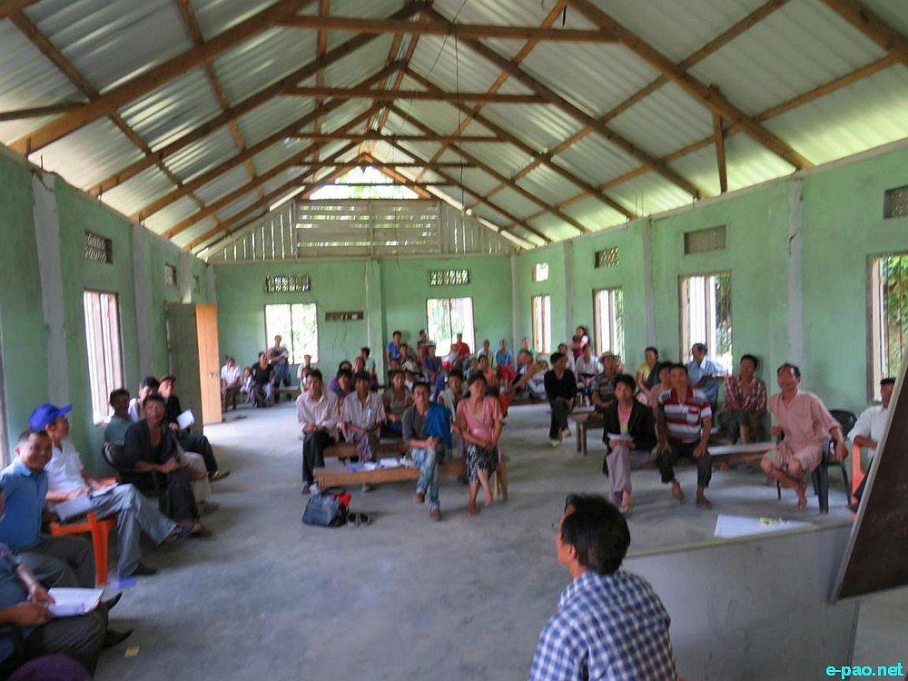 Public Meeting on 'No To Oil Exploration in Manipur' at Ukhrul