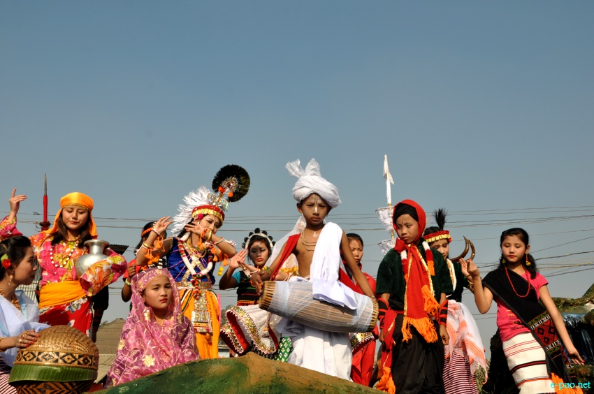 Different communities at 64th Republic Day parade, Imphal 2013