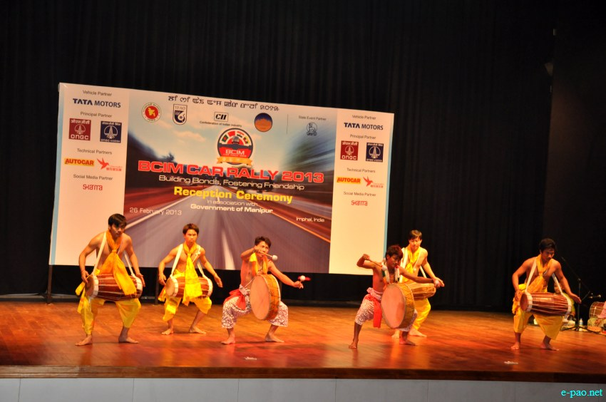 Dhol Chollom at  Bangladesh-China-India-Myanmar (BCIM) car Rally Reception at MFDC, Imphal :: February 26 2013